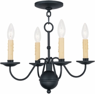 Livex 4494-04 Heritage Black Mini Chandelier Light