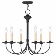 Livex 4526-04 Heritage Black Mini Hanging Chandelier