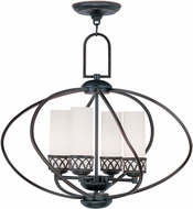 Livex 4724-67 Westfield Olde Bronze Mini Chandelier Lamp