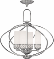 Livex 4724-91 Westfield Brushed Nickel Mini Chandelier Light