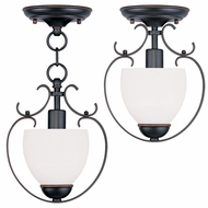 Livex 4760-67 Brookside Olde Bronze Mini Pendant Light / Ceiling Light