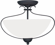Livex 4798-04 Brookside Black Ceiling Light Fixture