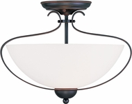 Livex 4798-67 Brookside Olde Bronze Flush Lighting