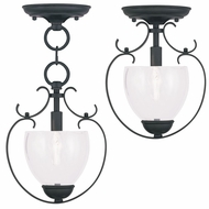 Livex 4800-04 Brookside Black Mini Lighting Pendant / Ceiling Light Fixture