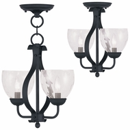 Livex 4804-04 Brookside Black Mini Lighting Chandelier / Flush Mount Lighting Fixture
