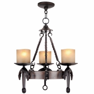 Livex 4863-67 Cape May Olde Bronze Mini Ceiling Chandelier