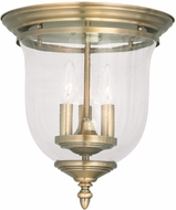 Livex 5024-01 Legacy Antique Brass Flush Mount Lighting