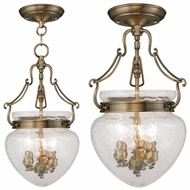 Livex 5041-01 Duchess Antique Brass Foyer Lighting / Overhead Light Fixture