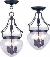 Livex 5041-04 Duchess Black Foyer Light Fixture / Overhead Lighting Fixture