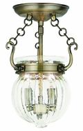 Livex 50502-01 Everett Antique Brass Ceiling Light Fixture