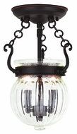 Livex 50502-67 Everett Olde Bronze Flush Lighting