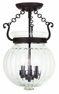 Livex 50504-67 Everett Olde Bronze Flush Mount Light Fixture