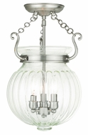 Livex 50504-91 Everett Brushed Nickel Flush Mount Lighting Fixture