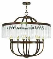 Livex 50549-64 Ashton Hand Painted Palacial Bronze Ceiling Chandelier