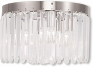 Livex 50553-91 Ashton Brushed Nickel Flush Ceiling Light Fixture