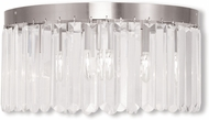 Livex 50554-91 Ashton Brushed Nickel Home Ceiling Lighting