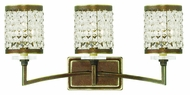 Livex 50563-64 Grammercy Hand Painted Palacial Bronze 3-Light Bathroom Sconce Lighting