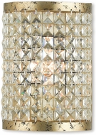 Livex 50571-28 Grammercy Hand Applied Winter Gold ADA Lighting Sconce