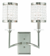 Livex 50572-91 Grammercy Brushed Nickel Lighting Wall Sconce