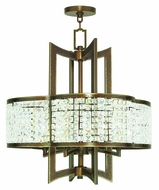 Livex 50575-64 Grammercy Hand Painted Palacial Bronze Mini Chandelier Light