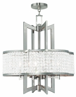 Livex 50575-91 Grammercy Brushed Nickel Mini Chandelier Lighting