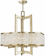 Livex 50576-28 Grammercy Hand Applied Winter Gold Lighting Chandelier