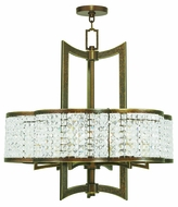 Livex 50576-64 Grammercy Hand Painted Palacial Bronze Chandelier Lamp