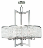 Livex 50576-91 Grammercy Brushed Nickel Chandelier Light