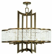 Livex 50578-64 Grammercy Hand Painted Palacial Bronze Ceiling Chandelier