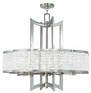 Livex 50578-91 Grammercy Brushed Nickel Hanging Chandelier