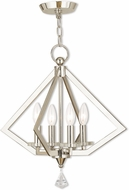 Livex 50664-35 Diamond Polished Nickel Mini Chandelier Light