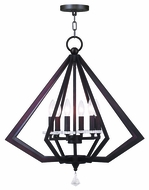 Livex 50666-07 Diamond Modern Bronze Chandelier Light