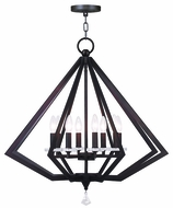 Livex 50668-07 Diamond Contemporary Bronze Chandelier Light