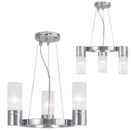 Livex 50693-05 Midtown  Modern Polished Chrome Mini Chandelier Light