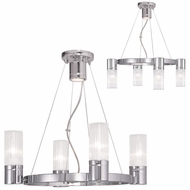 Livex 50694-05 Midtown  Contemporary Polished Chrome Mini Chandelier Lighting