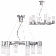 Livex 50696-05 Midtown  Modern Polished Chrome Mini Lighting Chandelier