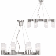 Livex 50698-05 Midtown  Contemporary Polished Chrome Chandelier Lamp