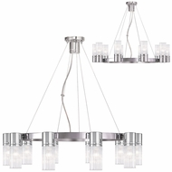 Livex 50699-05 Midtown  Modern Polished Chrome Chandelier Light
