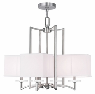 Livex 50705-91 Woodland Park  Contemporary Brushed Nickel Chandelier Light