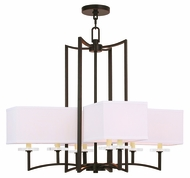 Livex 50708-67 Woodland Park  Modern Olde Bronze Chandelier Lighting