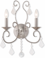 Livex 50762-91 Donatella Brushed Nickel Wall Sconce
