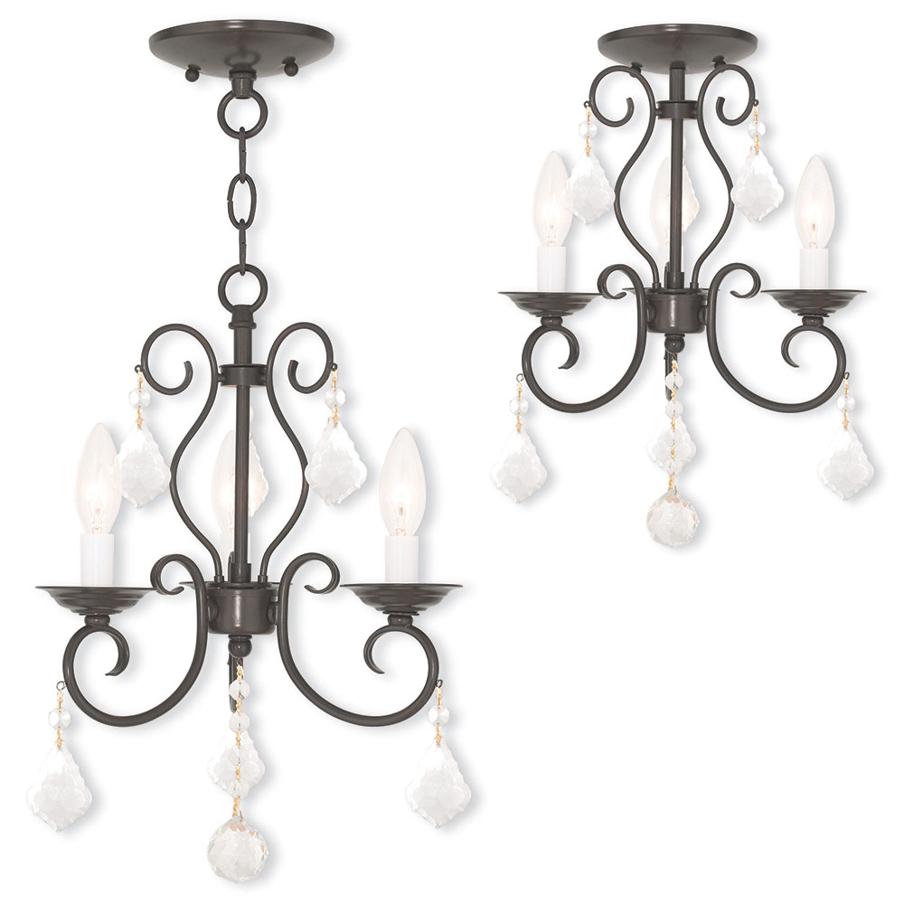 Livex 5076392 Donatella English Bronze Mini Chandelier Light