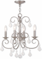 Livex 50764-91 Donatella Brushed Nickel Mini Chandelier Lamp