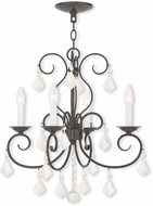 Livex 50764-92 Donatella English Bronze Mini Chandelier Light