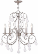 Livex 50765-91 Donatella Brushed Nickel Mini Ceiling Chandelier