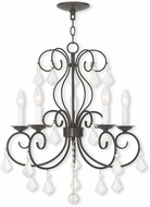 Livex 50765-92 Donatella English Bronze Mini Hanging Chandelier