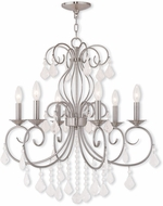Livex 50766-91 Donatella Brushed Nickel Chandelier Light