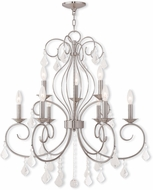 Livex 50769-91 Donatella Brushed Nickel Lighting Chandelier