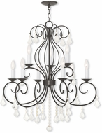 Livex 50769-92 Donatella English Bronze Chandelier Lamp