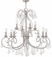 Livex 50770-91 Donatella Brushed Nickel Chandelier Light